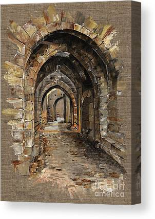 Medieval Temple Canvas Prints