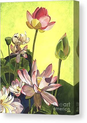 Pink Lotus Canvas Prints
