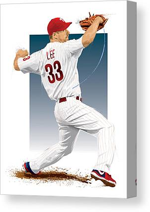 Cliff Lee Canvas Prints