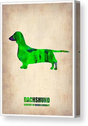 Dachshund Puppy Digital Art Canvas Prints