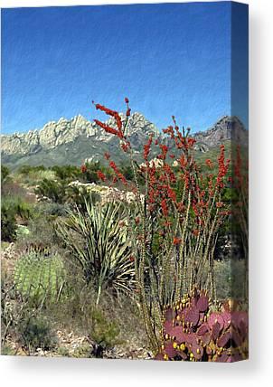 Las Cruces New Mexico Digital Art Canvas Prints