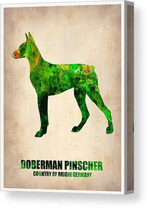 Doberman Art Canvas Prints