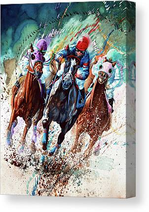 Horse Racing Paintings Canvas Prints
