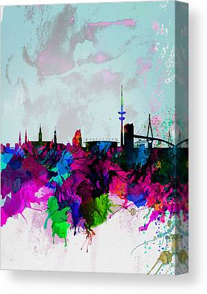 Hamburg Digital Art Canvas Prints