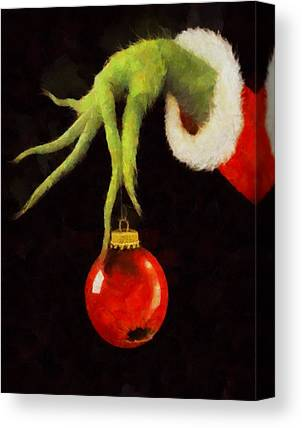 Grinch Canvas Prints