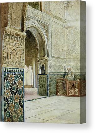 Tile Drawings Canvas Prints