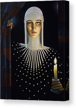 Candle Lit Paintings Canvas Prints