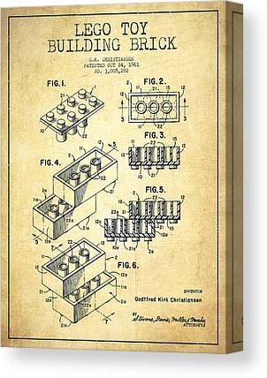 Lego Patent Canvas Prints