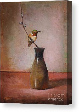 Sake Bottle Paintings Canvas Prints