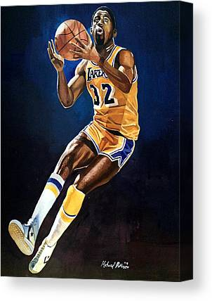 Magic Johnson Canvas Prints