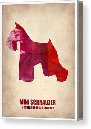 Schnauzer Art Canvas Prints