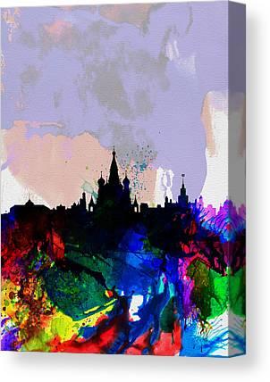 Moscow Skyline Canvas Prints