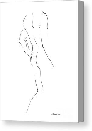 Male Nude Art Canvas Prints