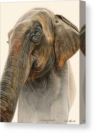 Elephants Digital Art Canvas Prints