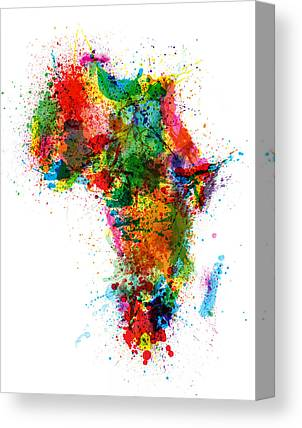 Map Of Africa Canvas Prints