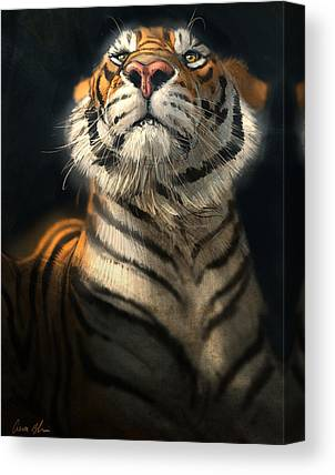 Tiger Digital Art Canvas Prints