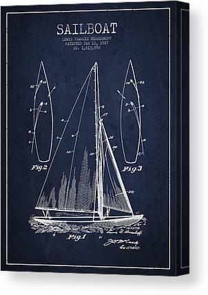 Sail Boats Digital Art Canvas Prints