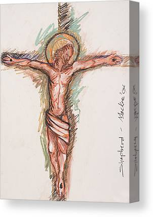 Crucifixtion Mixed Media Canvas Prints