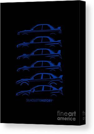 Subaru Impreza Canvas Prints
