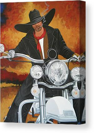 Contemporary Cowboy Art Collector Canvas Prints