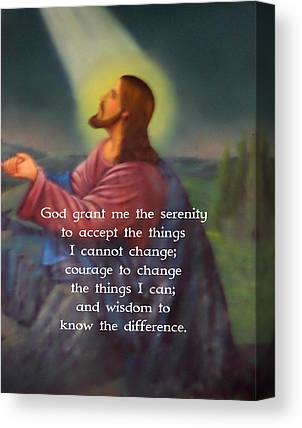 Courage To Change The Things I Can And The Wisdom To Know The Difference Canvas Prints