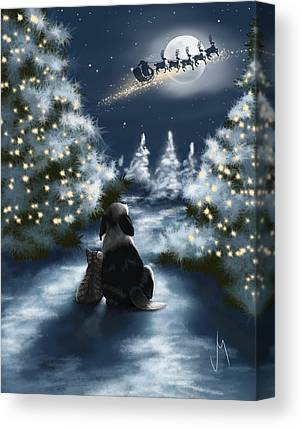 Snowscape Paintings Canvas Prints