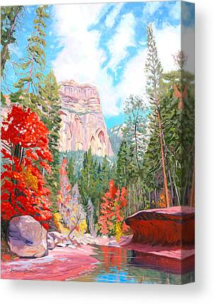 West Fork Paintings Canvas Prints