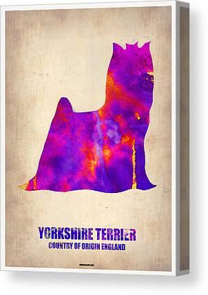 Yorkshire Terrier Watercolor Canvas Prints