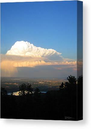 High Plains Thunderhead Canvas Prints