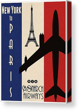 Air Travel Paintings Canvas Prints