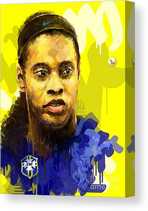 Ronaldinho Gaucho Canvas Prints