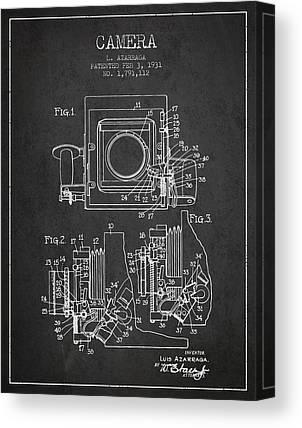 Film Camera Drawings Canvas Prints