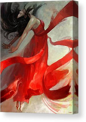 Red Dress Canvas Prints
