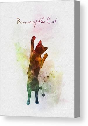 House Pet Mixed Media Canvas Prints