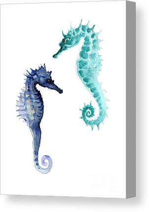 Seahorses Canvas Prints