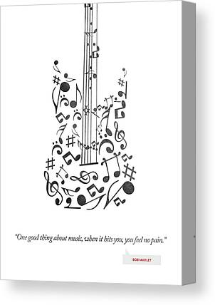 Music Inspired Drawings Canvas Prints