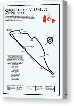 Canadian Grand Prix Canvas Prints