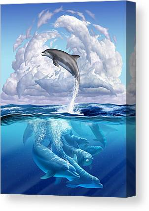 Dolphins Canvas Prints