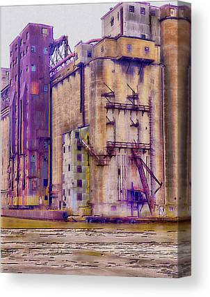 Old Feed Mills Digital Art Canvas Prints