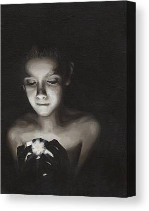 Black And White Paintings Canvas Prints