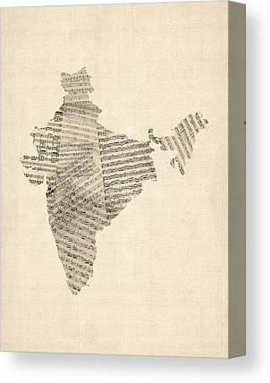 India Canvas Prints