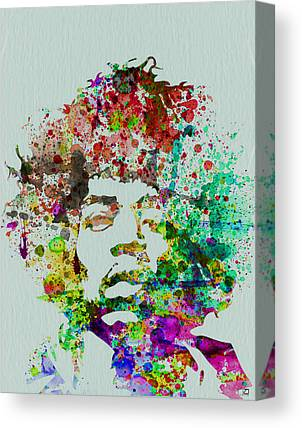 Jimmy Hendrix Portrait Canvas Prints