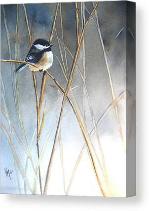 Birds In Winter Canvas Prints