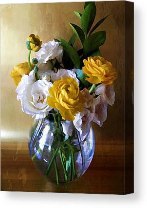 Vase Flower Watercolor Effect Canvas Prints
