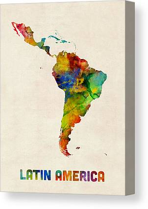 Latin America Canvas Prints