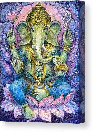 Ganesh Paintings Canvas Prints