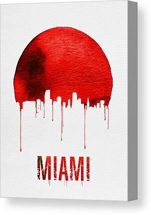 Florida Bridge Digital Art Canvas Prints