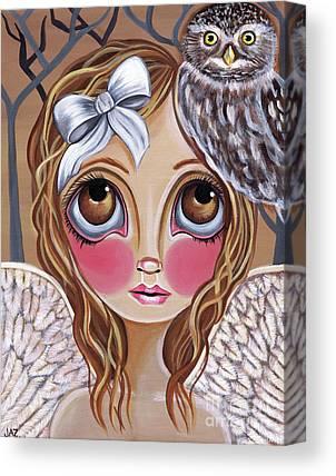 Australian Owl Paintings Canvas Prints