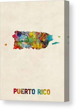 Caribbean Digital Art Canvas Prints