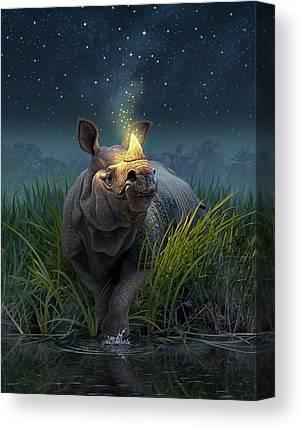 Rhinoceros Canvas Prints